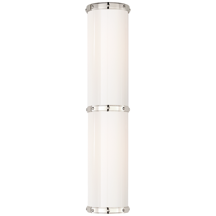 Bleeker Medium Bath Sconce - Polished Nickel Finish
