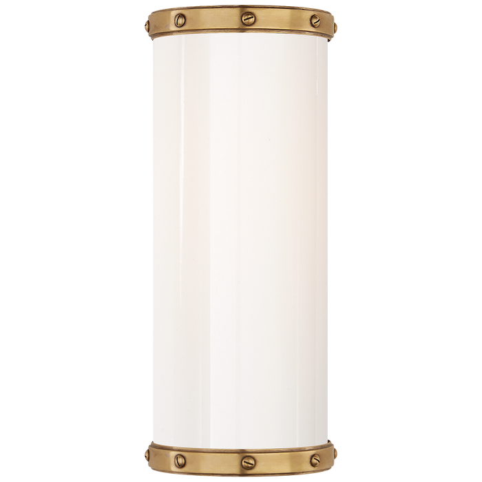 Bleeker Small Bath Sconce - Natural Brass Finish