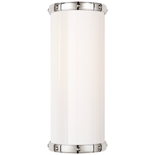 Bleeker Small Bath Sconce - Polished Nickel Finish