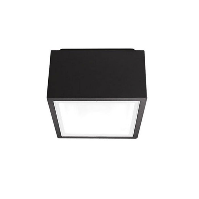 Bloc LED Indoor/Outdoor Flush Mount - Black Finish