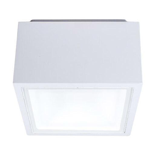 Bloc LED Indoor/Outdoor Flush Mount - White Finish