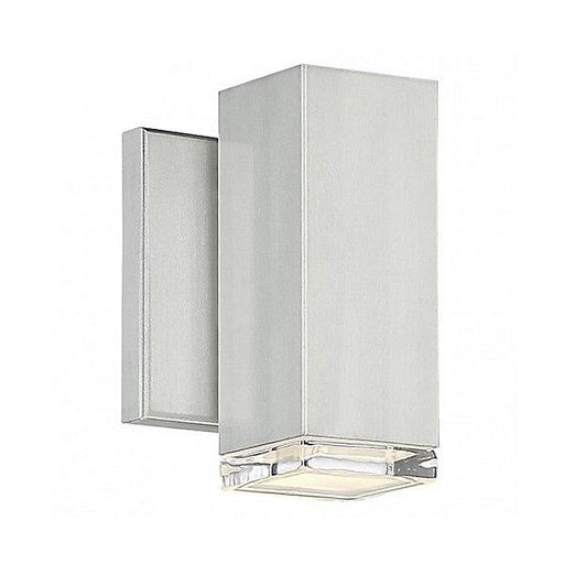 "Block 6"" LED Outdoor Wall Light - Brushed Aluminum"