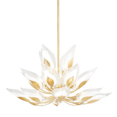 Blossom Large Chandelier - Gold Leaf