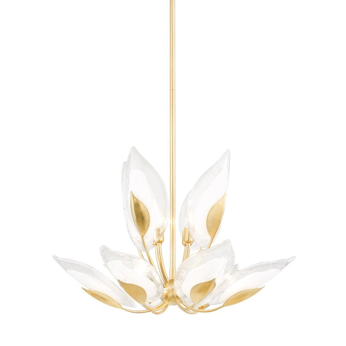 Blossom Small Chandelier - Gold Leaf