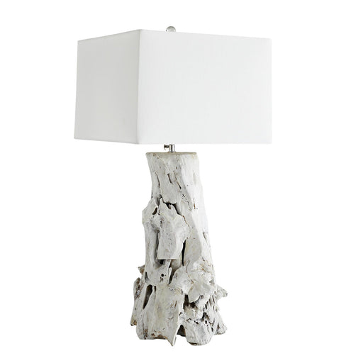 Bodega Table Lamp - Distressed Whitewash Finish