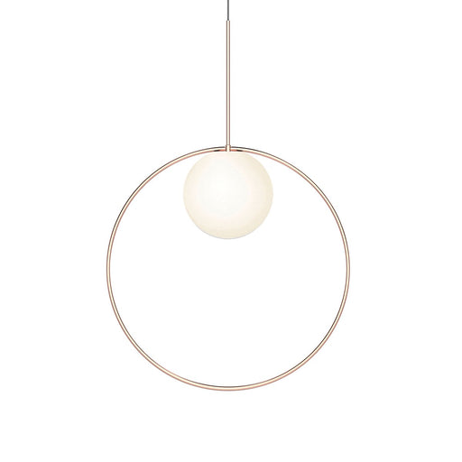 Bola Large Halo LED Pendant - Rose Gold