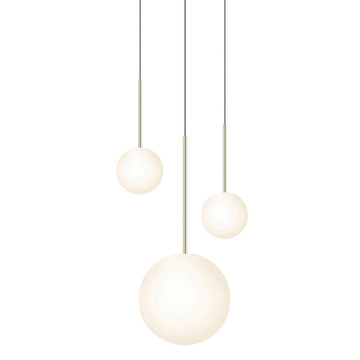 Bola 3-Light Sphere Chandelier - Brass