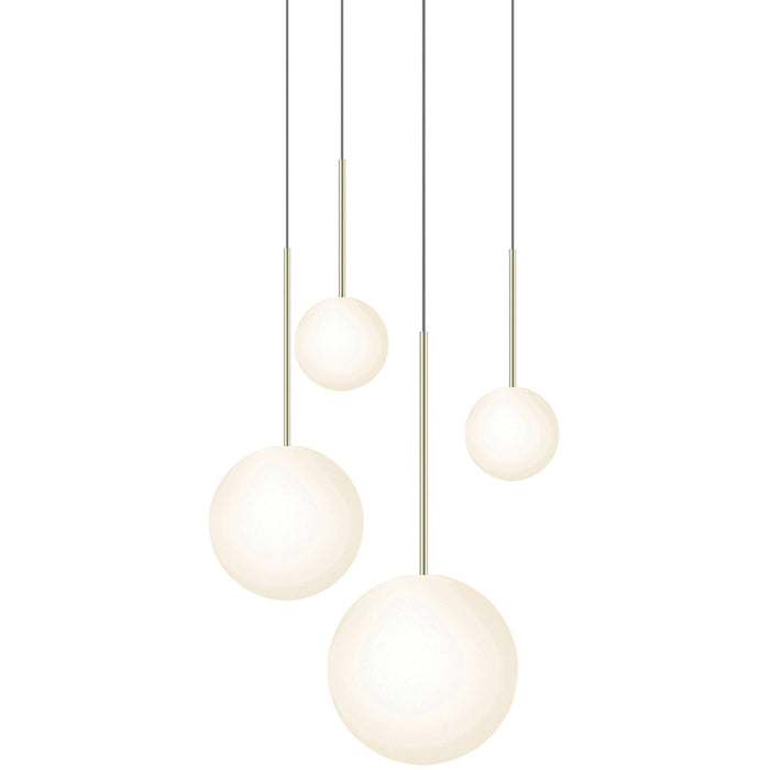 Bola 4-Light Sphere Chandelier - Brass