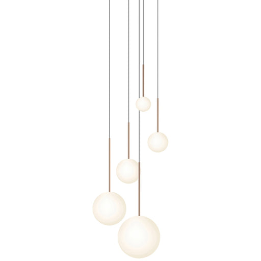 Bola 5-Light Sphere Chandelier - Rose Gold