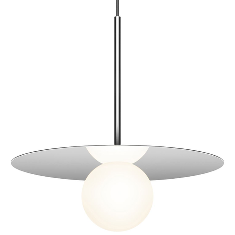 "Bola Disc Pendant Light 12"" Chrome"