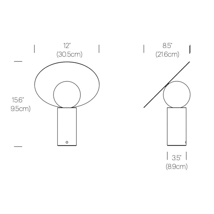Bola Disc Table Lamp - Diagram