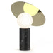 Bola Disc Table Lamp - Marquina Black Marble & Brass Shade