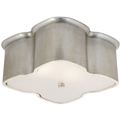 Bolsena Clover Flush Mount - Burnished Silver Leaf Finish