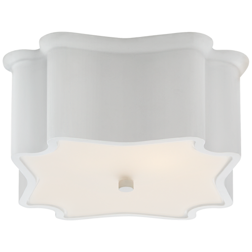 Bolsena Deco Flush Mount - Plaster White Finish
