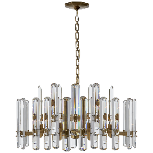 Bonnington Large Chandelier - Hand-Rubbed Antique Brass Finish