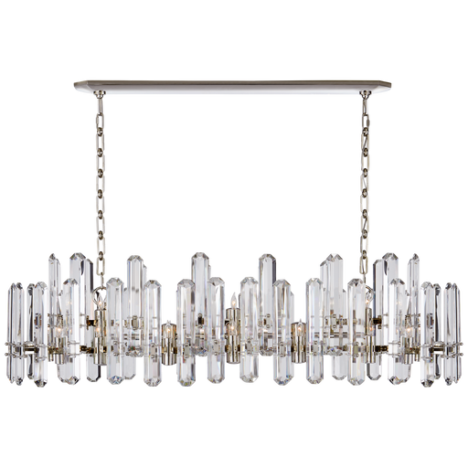 Bonnington Large Linear Chandelier - Polished Nickel Finish