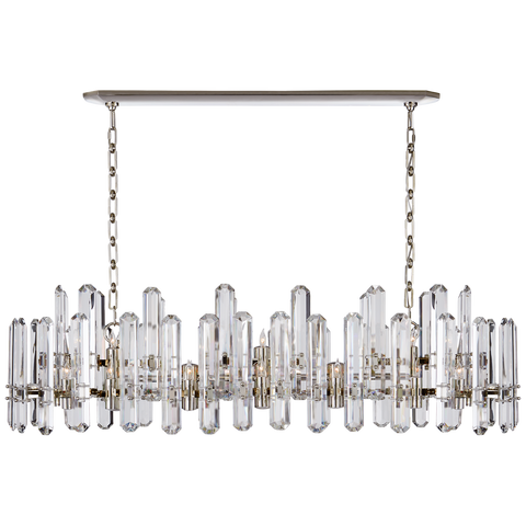 Bonnington Large Linear Chandelier - Polished Nickel
