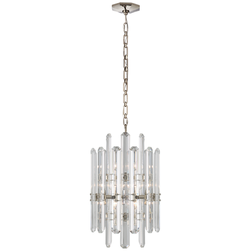 Bonnington Tall Chandelier - Polished Nickel Finish