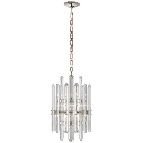 Bonnington Tall Chandelier - Polished Nickel