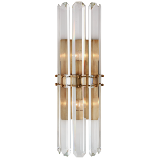 Bonnington Tall Sconce - Hand-Rubbed Antique Brass Finish
