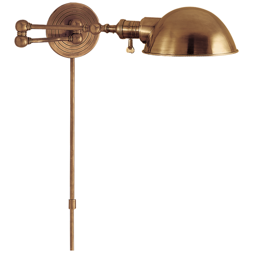 Boston Swing Arm - Hand-Rubbed Antique Brass Finish