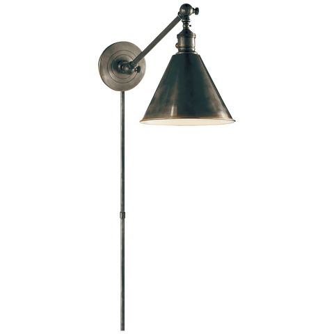 Boston Functional Single Arm Library Light - Bronze