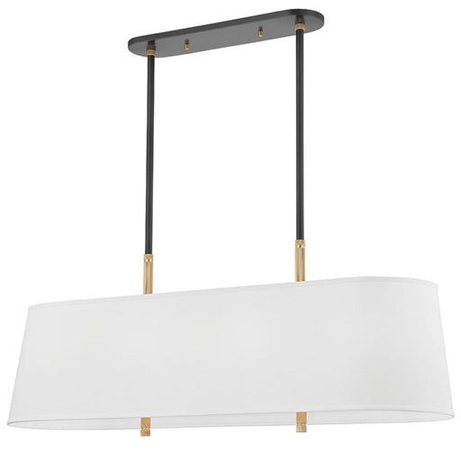 Bowery Linear Pendant - Aged Old Bronze/Aged Brass Finish