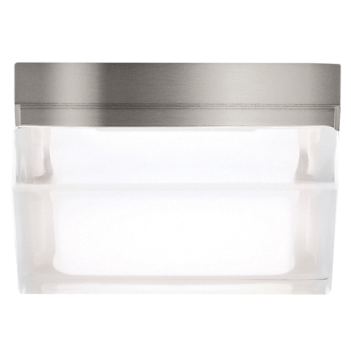 Boxie LED Ceiling Light - Satin Nickel - Small