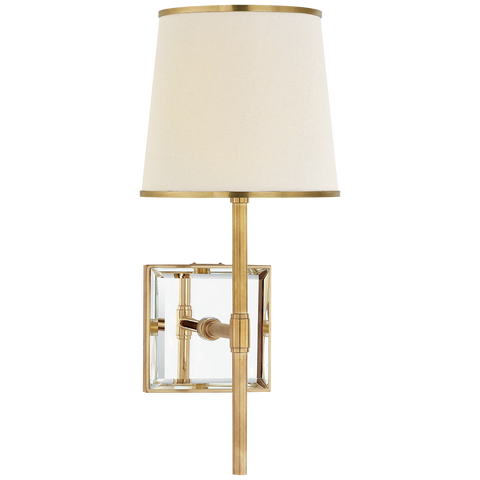 Bradford Medium Sconce Soft Brass/Mirror