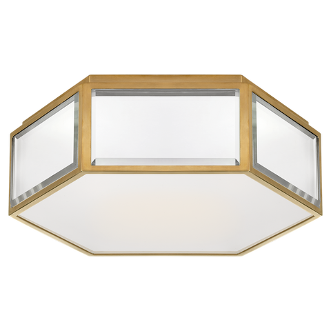 Bradford Small Hexagonal Flush Mount Soft Brass/Mirror