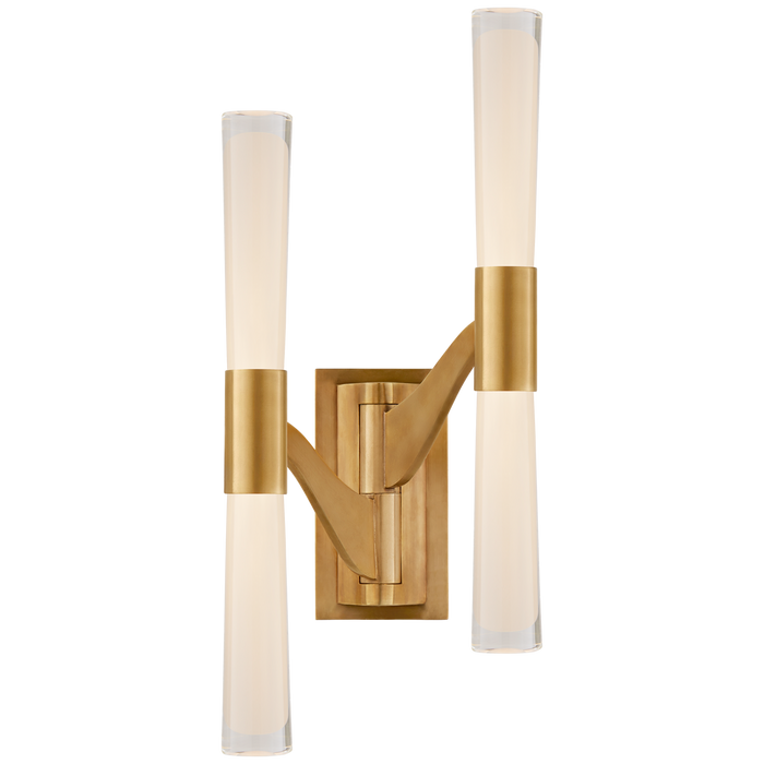 Brenta Large Double Articulating Sconce - Hand-Rubbed Antique Brass Finish