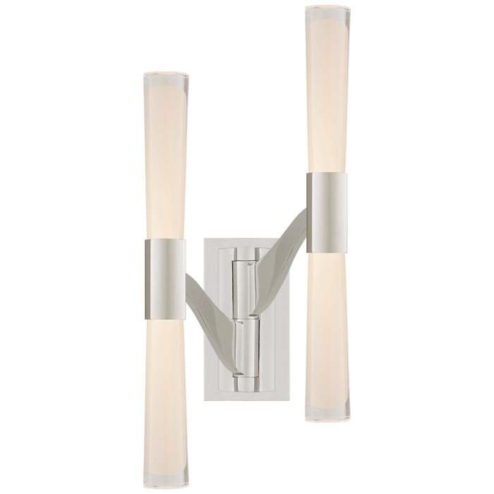 Brenta Large Double Articulating Sconce - Polished Nickel Finish
