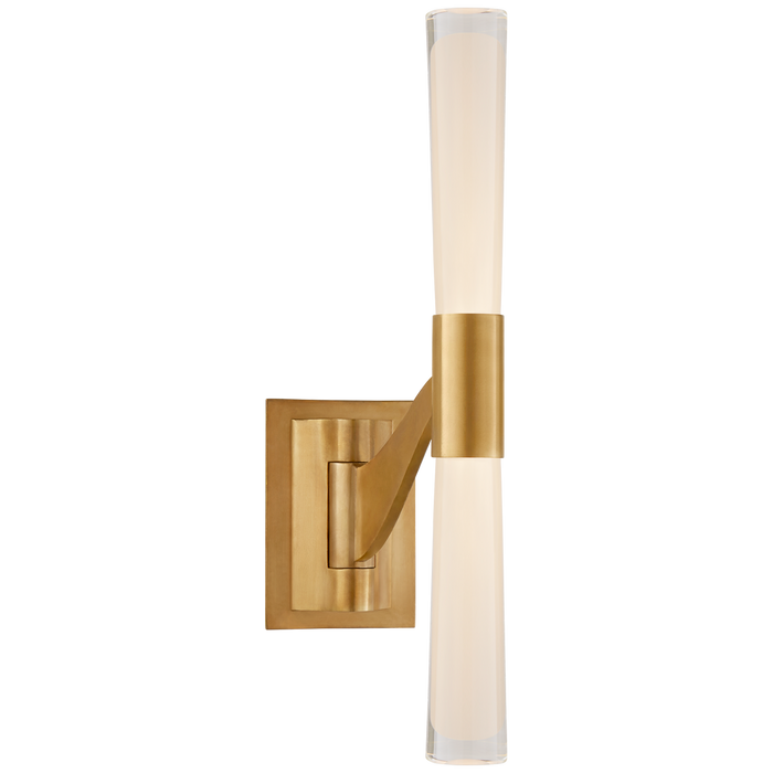 Brenta Single Articulating Sconce - Hand-Rubbed Antique Brass Finish