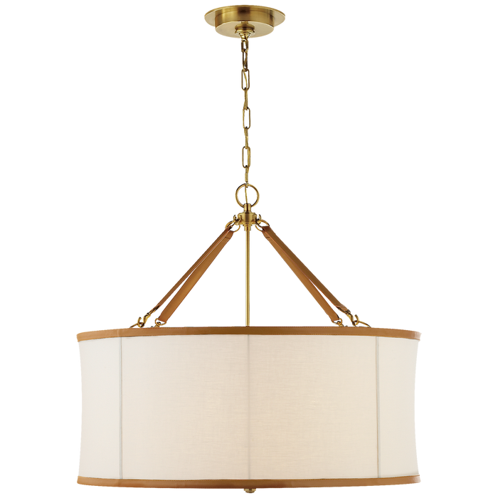 Broomfield Large Hanging Shade - Natural Brass Finish