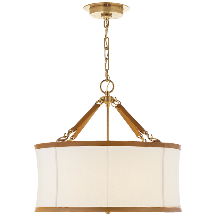 Broomfield Small Hanging Shade - Natural Brass Finish