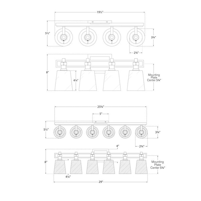 Bryant Bath Vanity Sconce - Diagram