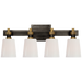 Bryant 4-Light Bath Vanity Sconce - Bronze/Hand-Rubbed Antique Brass Finish