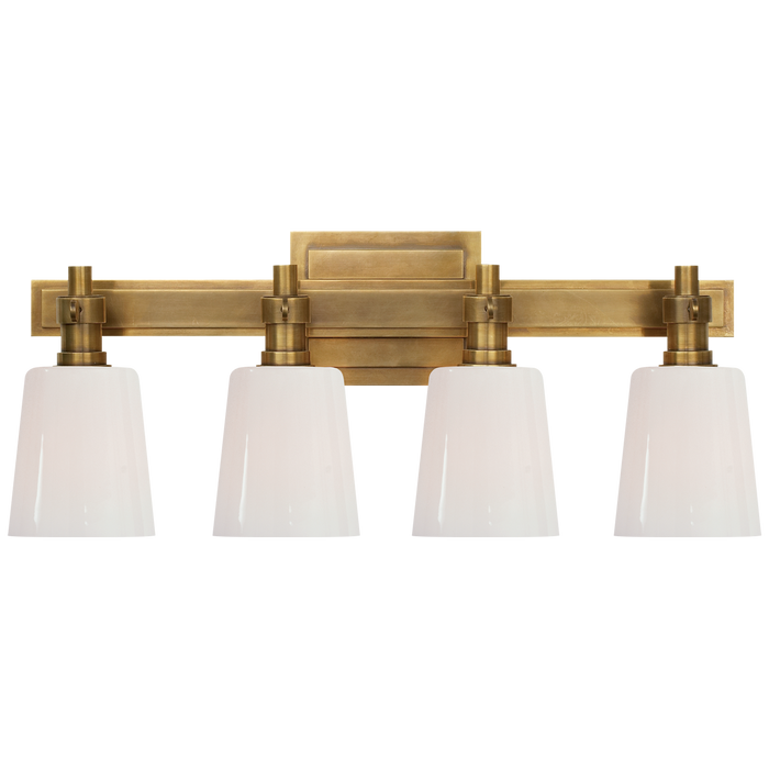 Bryant 4-Light Bath Vanity Sconce - Hand-Rubbed Antique Brass Finish