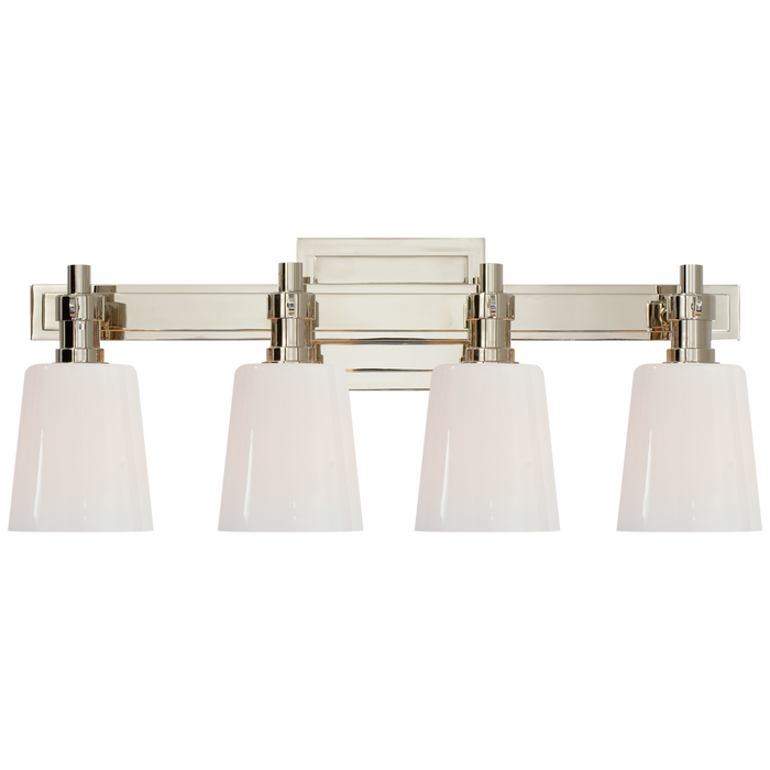 Bryant 4-Light Bath Vanity Sconce - Polished Nickel Finish