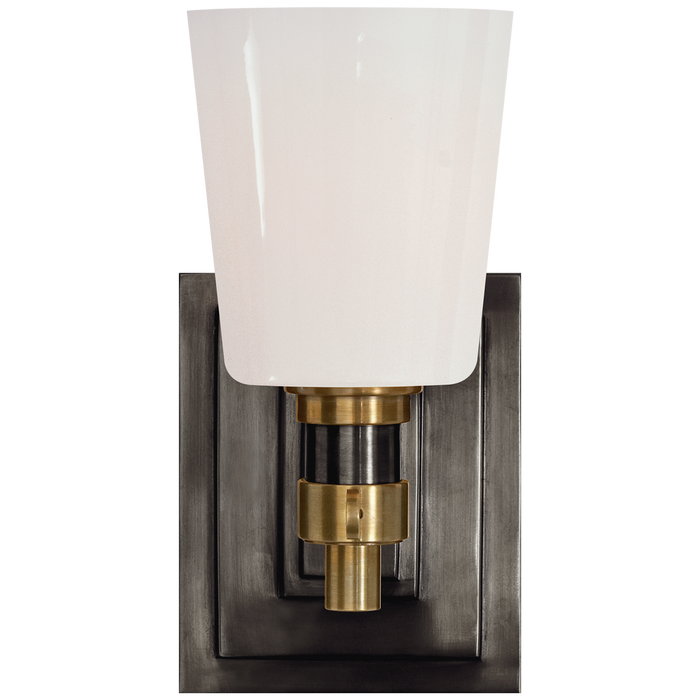 Bryant Single Bath Sconce - Bronze/Hand-Rubbed Antique Brass Finish
