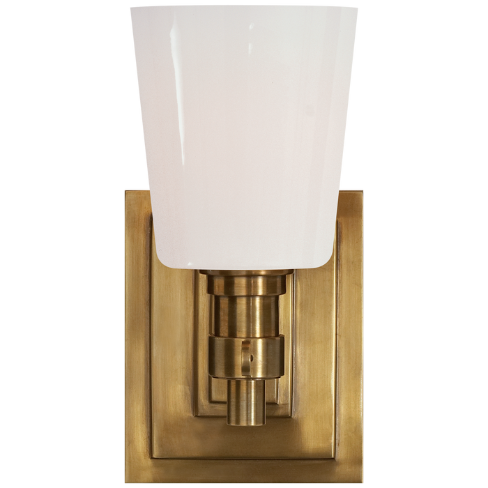 Bryant Single Bath Sconce - Hand-Rubbed Antique Brass Finish