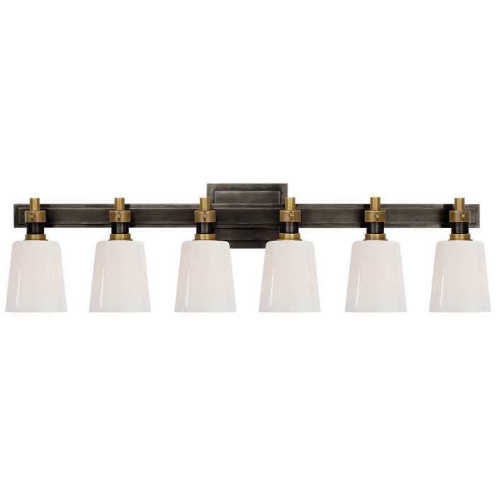 Bryant 6-Light Bath Vanity Sconce - Bronze/Hand-Rubbed Antique Brass Finish