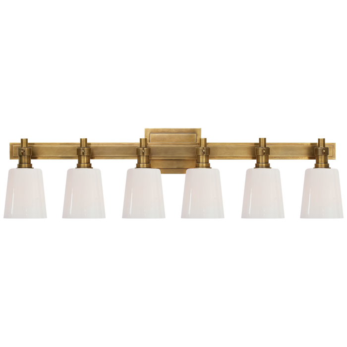 Bryant 6-Light Bath Vanity Sconce - Hand-Rubbed Antique Brass Finish