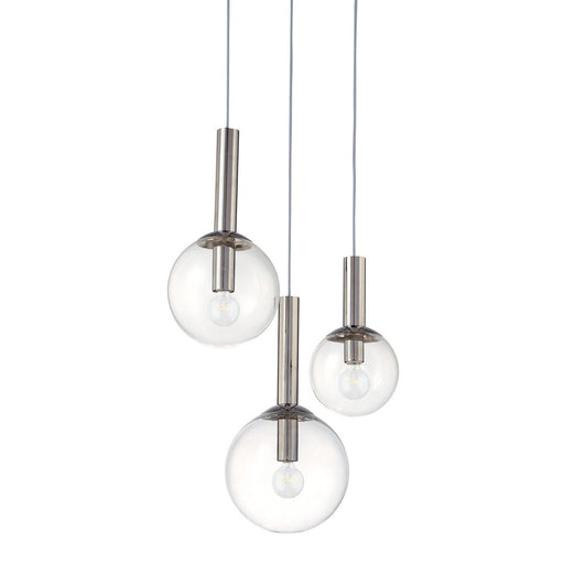 Bubbles 3-Light Pendant - Polished Nickel