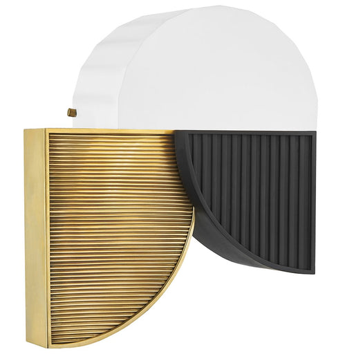 Construct Wall Sconce - Aged Brass/Black Finish