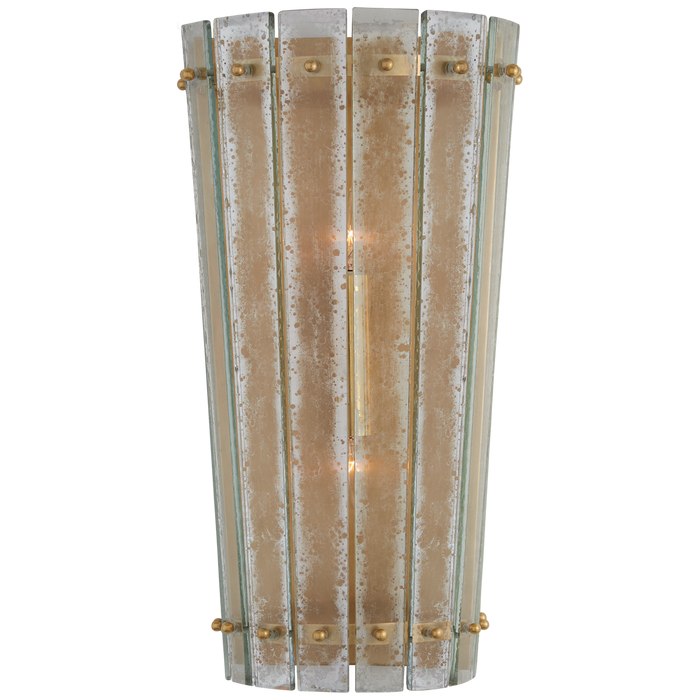 Cadence Medium Sconce - Hand-Rubbed Antique Brass Finish with Antique Mirror Shade