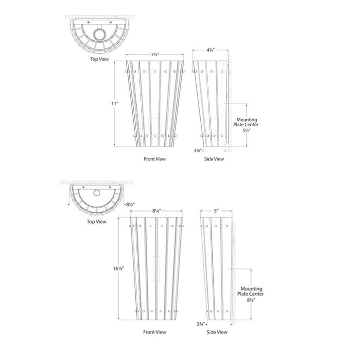 Cadence Sconce - Diagram