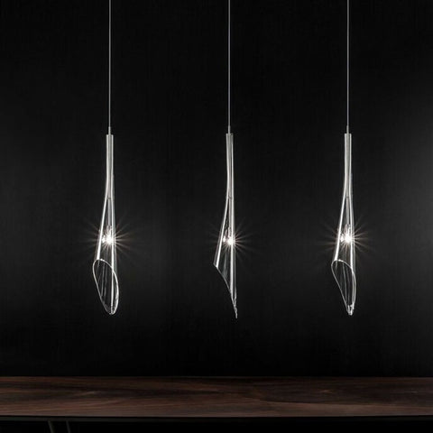 Calle 3 Light Linear Suspension Light - Rectangular Canopy