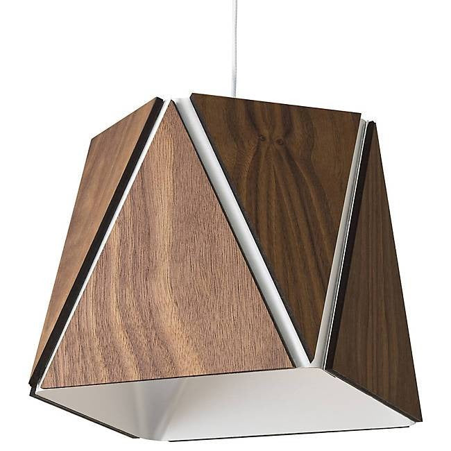 Calx Large Pendant - Oiled Walnut/Brushed Aluminum Finish