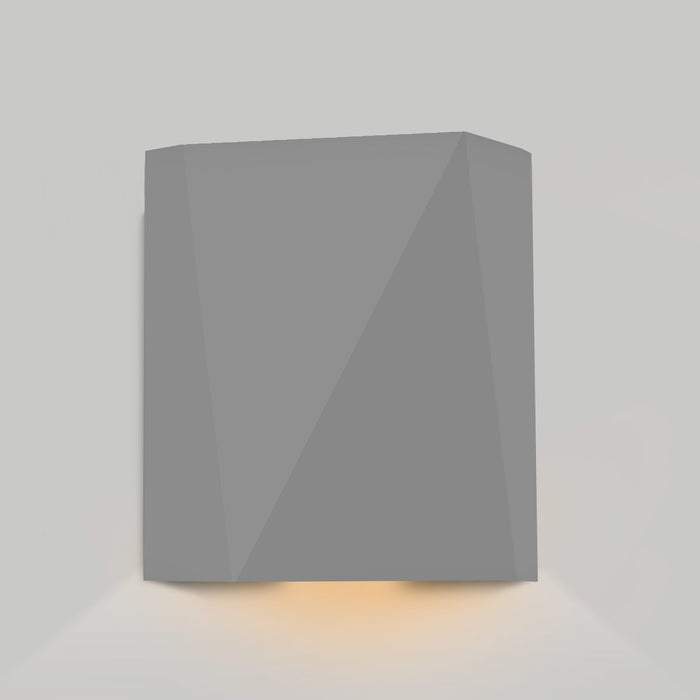 Calx Downlight Outdoor LED Wall Sconce - Matte Gray Finish